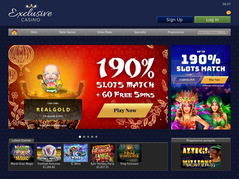 Exclusive Casino - US, UK, CA AU, FR