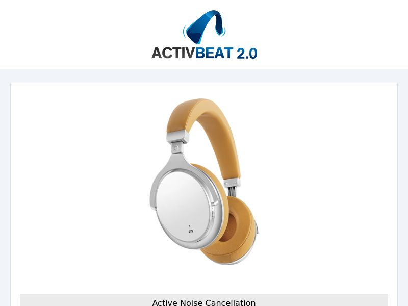 ActivBeat 2.0 Noise Cancelling HeadPhones INTL - All Languages