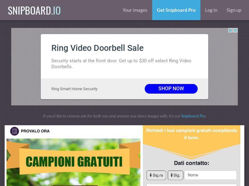 Provalo Ora - Campioni gratuiti groceries IT - SOI