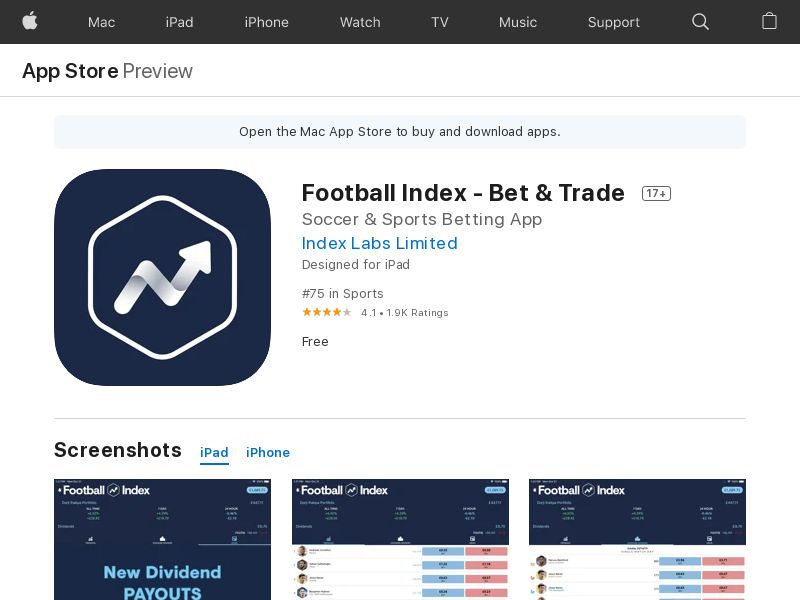 Football Index iOS UK (CPE)