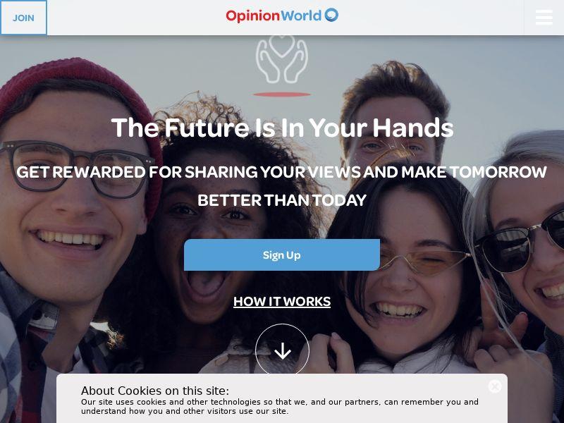 OpinionWorld - Paid Survey Online - CPL -Desktop & Mobile [HK]