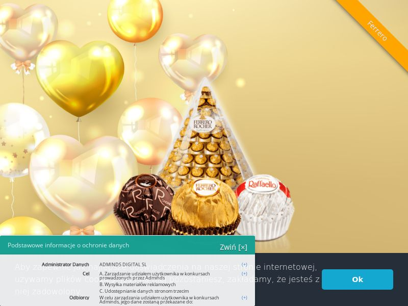 Kosz prezentowy Ferrero - PL (PL), [CPL], Lotteries and Contests, Single Opt-In, paypal, survey, gift, gift card, free, amazon
