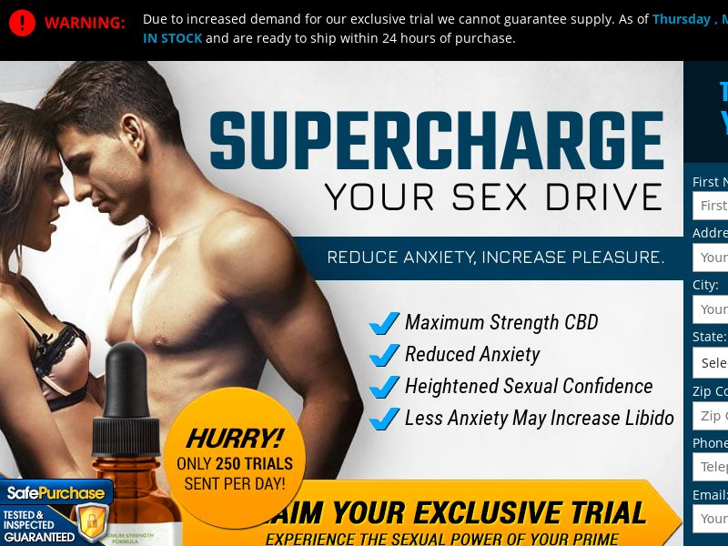 Upsell for Life CBD Male Enhancement (Trial w/1clickupsell) (US) (SURVEY and SMS ALLOWED)