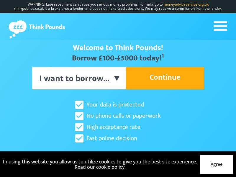 Think Pounds - Short Term Loans [UK]