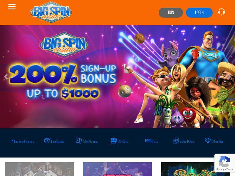 BigSpinCasino.com Casino CPA - CA, SE, NO & DE