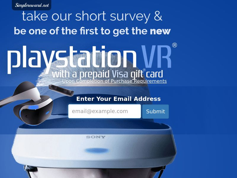 Playstation VR - Email Submit