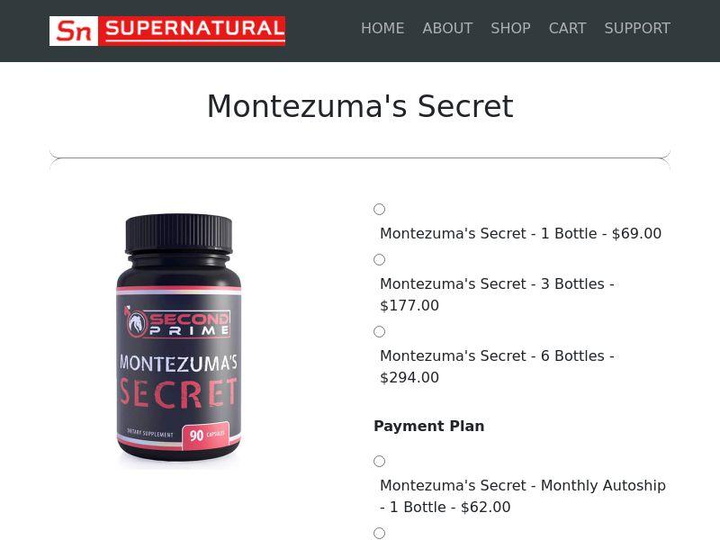 Montezuma Secret - Male Enhancement (US) (CPS)
