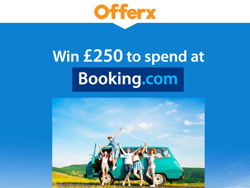 Win £250 to spend at Booking.com - SOI | UK