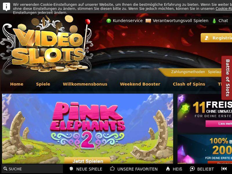 Videoslots.com Casino CPA - DE, AT & CA