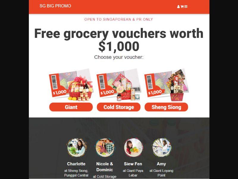 SG - Win Supermarket Voucher (Chinese New Year theme) [SG] - SOI registration