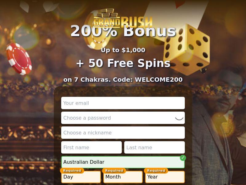 Grand rush casino CPA AU