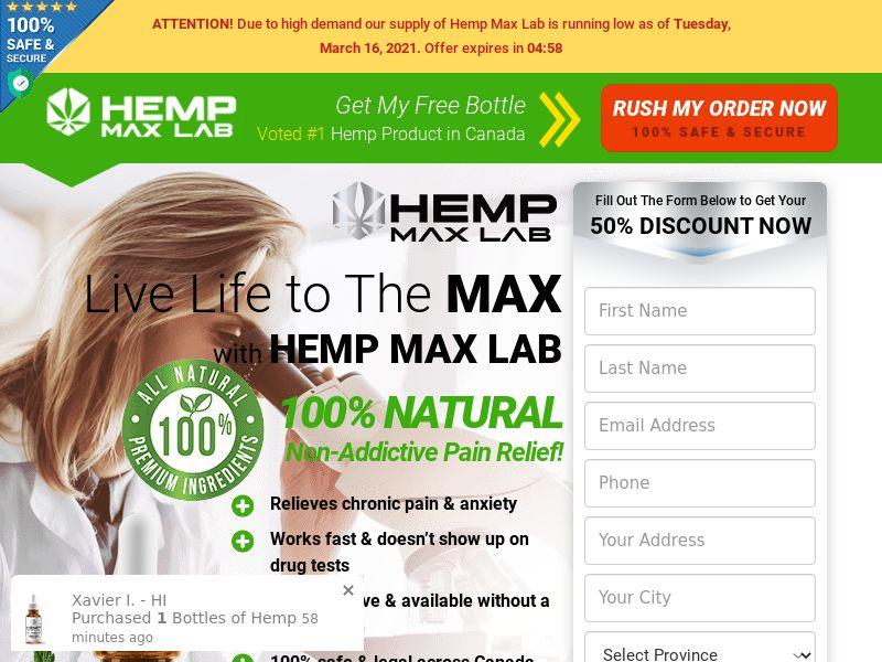 Hemp Max Lab Oil SS - CA