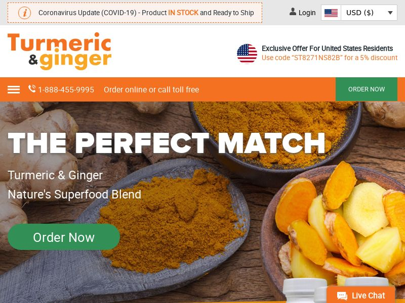 Turmeric & Ginger | Supplement With 2 of Natures Superfoods Combined