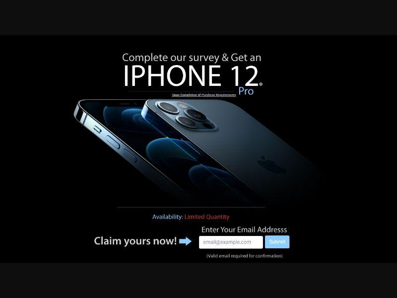 US - Win iPhone 12 Pro [US] - SOI registration