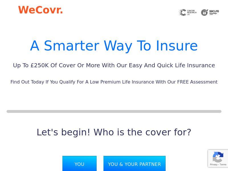 UK - WeCovr Life Insurance