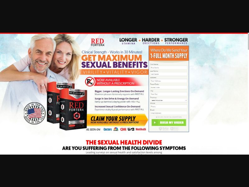 Male Virility Surge Red Fortera - Male Enhancement - SS - NO SEO - [CA]