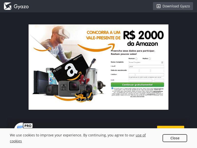 2804 Amazon giftcard 2000$ Sweepstake CPA