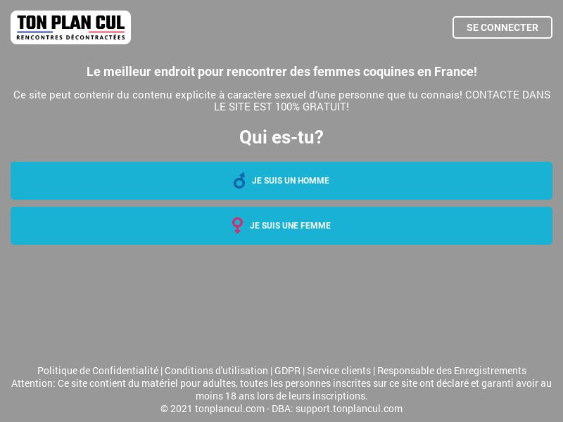 Ton Plan Cul - Mobile&Desktop - CC-submit - [FR] - Adult Landing page