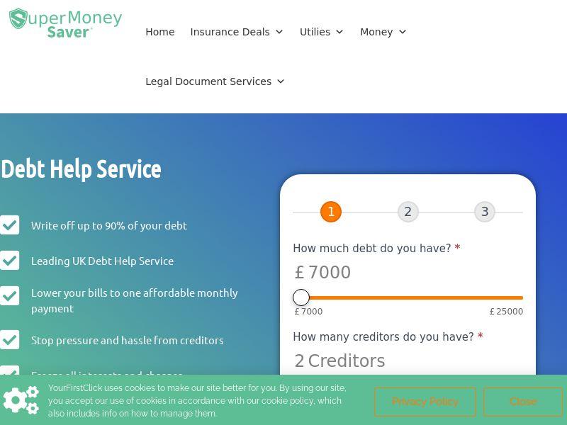 UK- Super Money Saver Debt Help-Email -CPL
