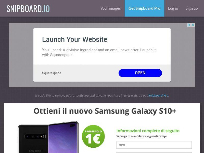SteadyBusiness - Samsung Galaxy S10+ LP34 IT - CC Submit