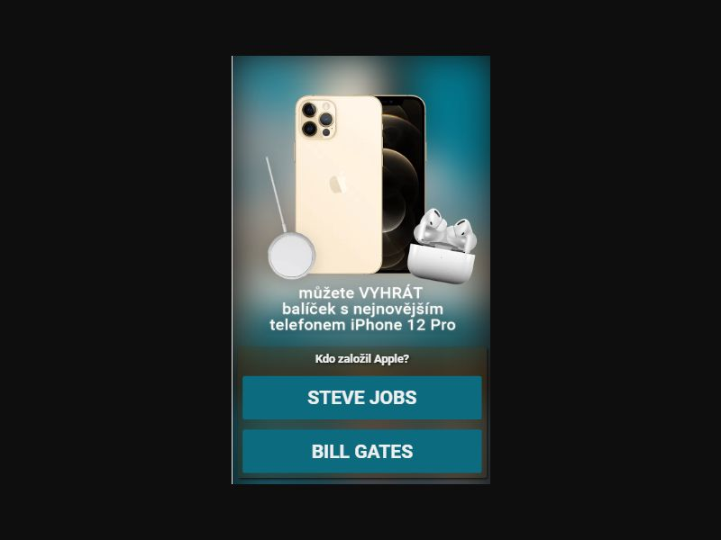 CZ/GR/LV/SI - Win iphone 12/Samsung S20 [CZ] - Click to sms