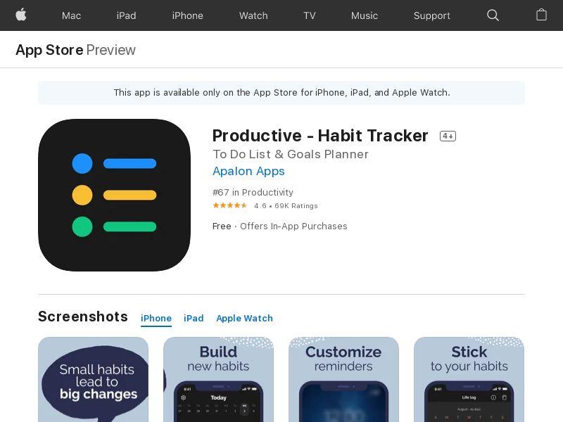 Productive - iOS / US IDFA