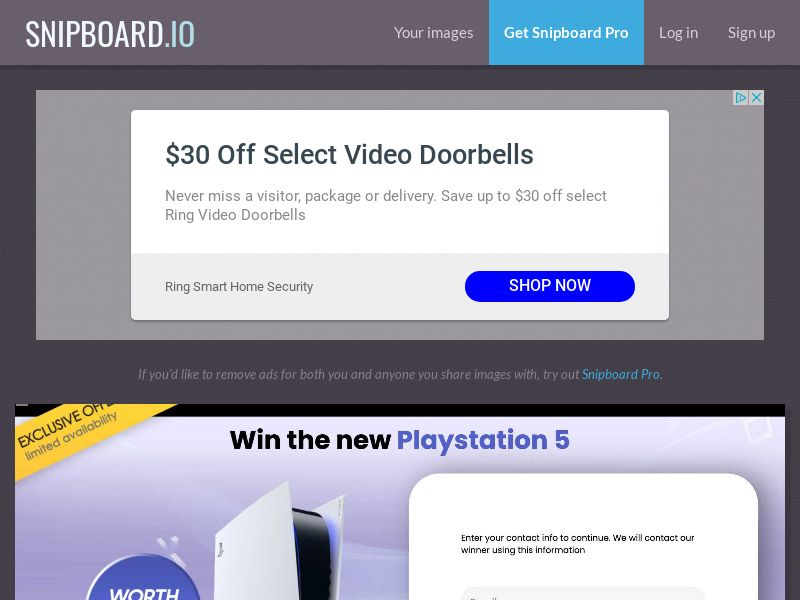 ForYouPromo - Win a PlayStation 5 PS5 UK - SOI