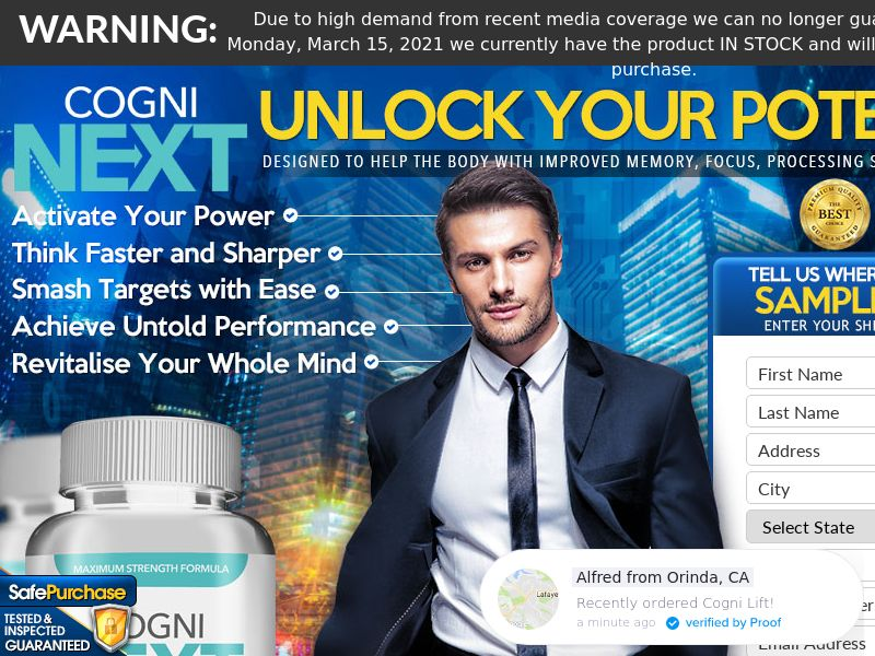 Cogni Brain Max Trial w/ Upsell - US