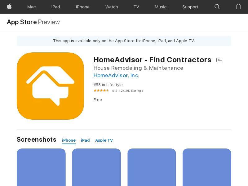 HomeAdvisor US iOS IDFA APPNAME