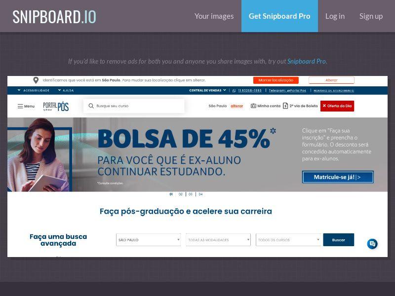 37978 - BR - Education - Unopar | Pós Graduação 2020 - SOI (open cap)