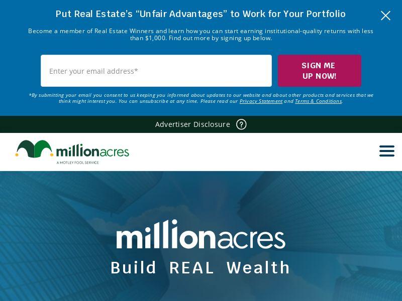 The Motley Fool - Millionaire Acres
