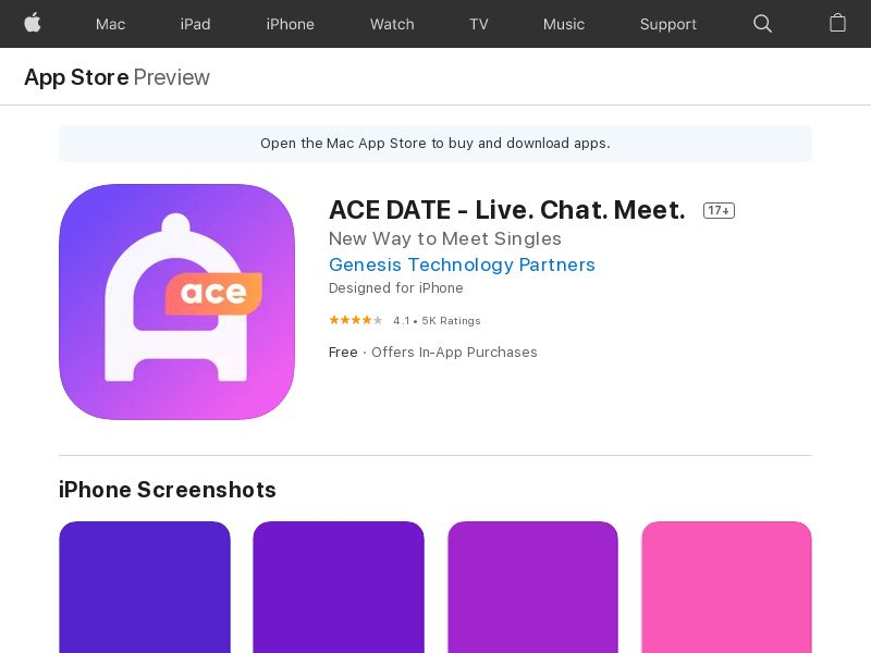 ACE DATE - United States - iOS APP