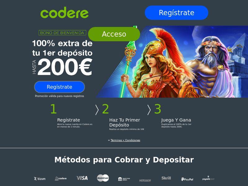 Codere - ES (ES), [CPA], Gambling, Casino, Deposit Payment, million, lotto