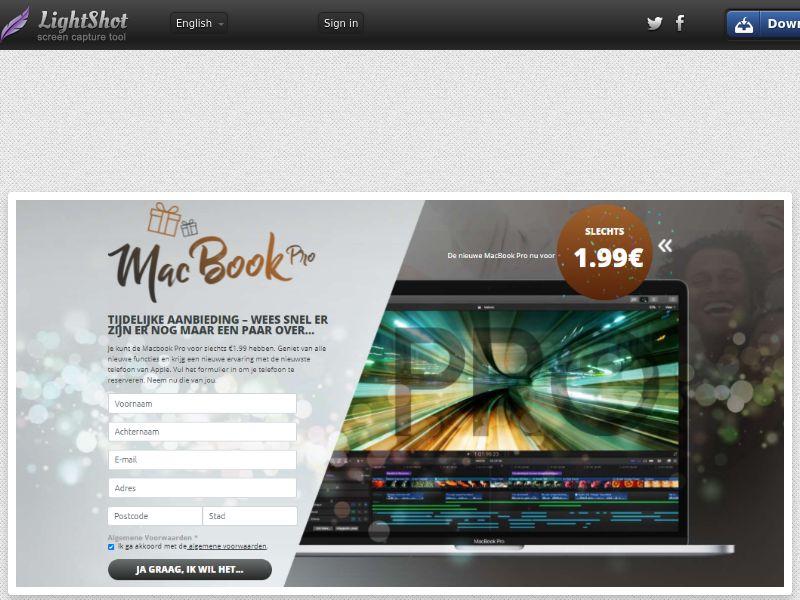 Lucky Winner - Macbook Pro - LP15 (BE, FR) (Trial)