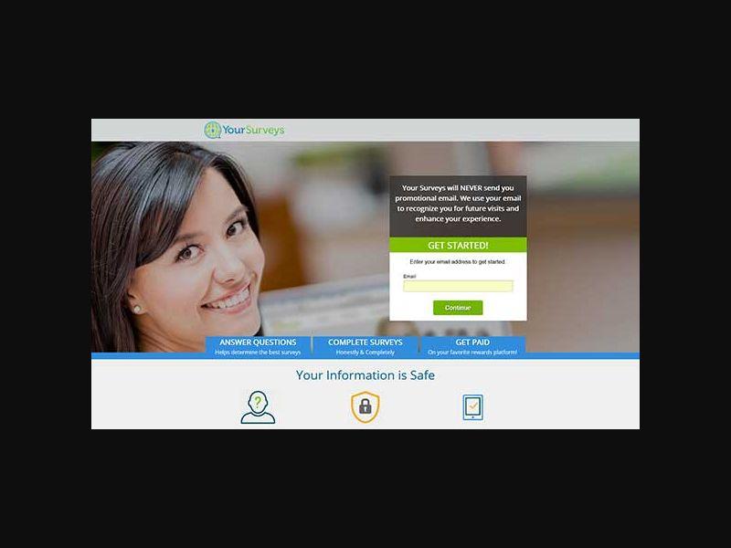 Your-Surveys.com (US) Incentive