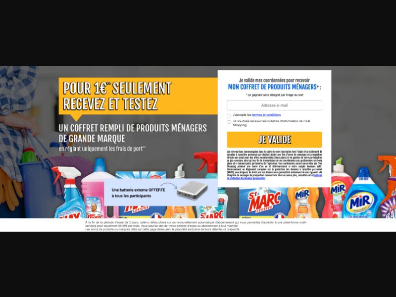 Hygiene Products - CPL SOI - FR - Sweepstakes - Responsive