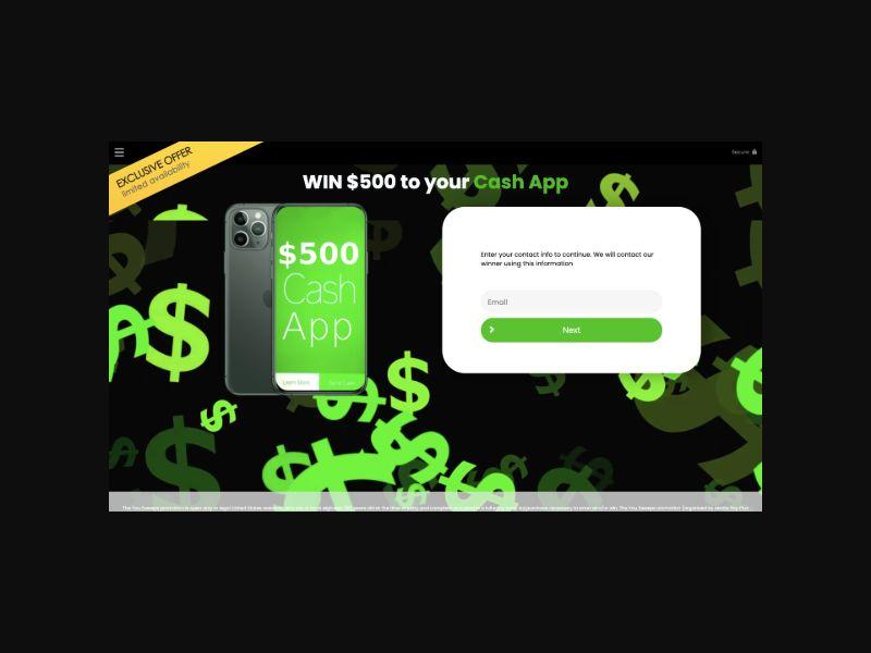 YOUSWEEPS $500 CashApp (US) SOI