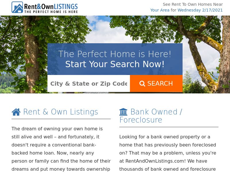 Real Estate - Rent and Own Listings (US)
