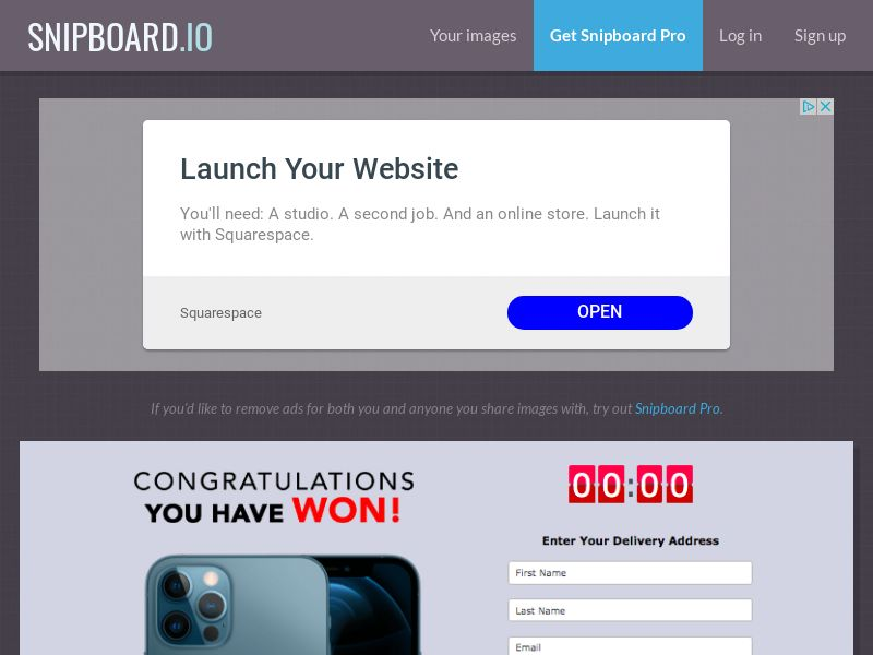 AbsoluteWinner - iPhone 12 Pro (Grey with Timer) US - CC Submit