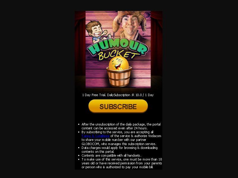HumourBucket - 2 clicks - ZA-Voda - Other - Mobile