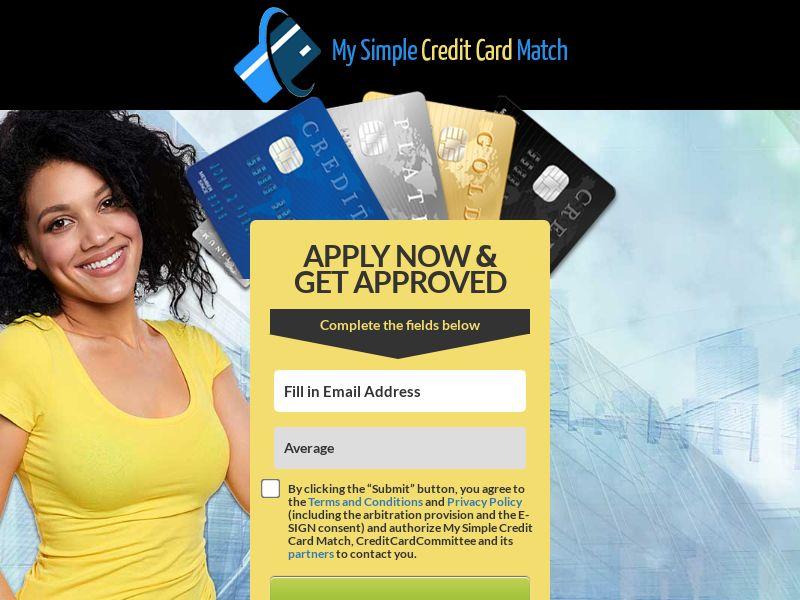 My Simple Credit Card Match   US