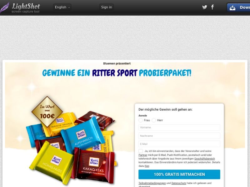 7Sections - Rittersport Chocolates (DE, AT, CH) (CPL) (Personal Approval)