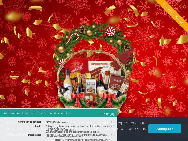 Christmas Hamper - FR (FR), [CPL], Lotteries and Contests, paypal, survey, gift, gift card, free, amazon
