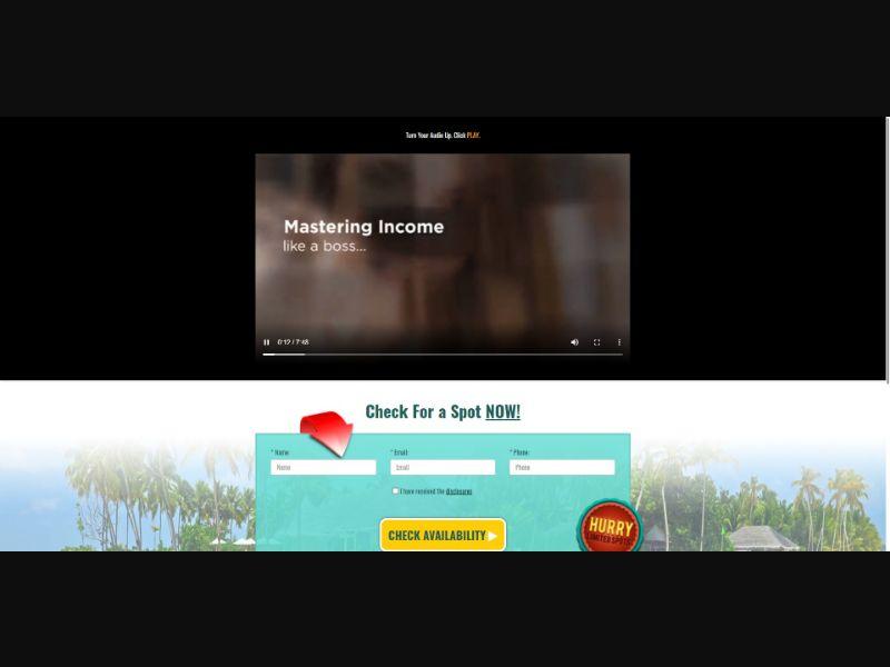 Mastering Online Income - $49.95 CTC - VSL - Biz Opp - SS - [US,CA, AU, NZ]