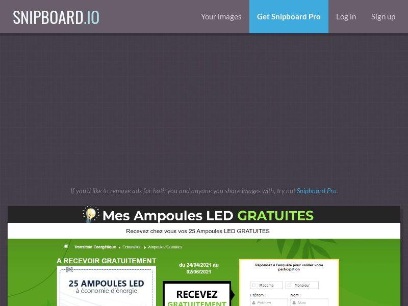 41385 - FR - Mes Ampoules LED GRATUITES - CPL - SOi - [FR] **Desktop/Mobile**
