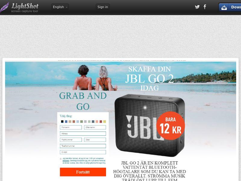 JBL Go 2 Speaker (Sweepstake) (CC Trial) - Sweden [SE]