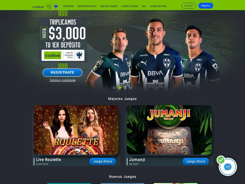 Codere casino RS MX