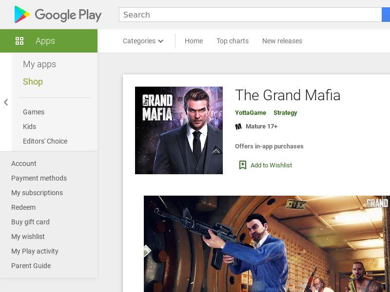 The Grand Mafia - US (US), [CPA]