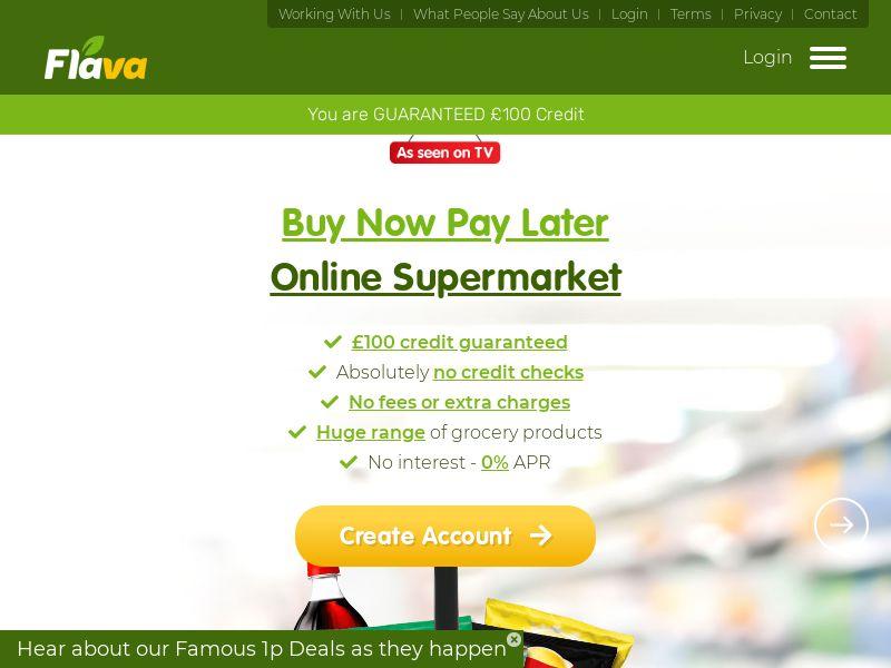 Flava - Supermarket Shopping on Credit [UK]