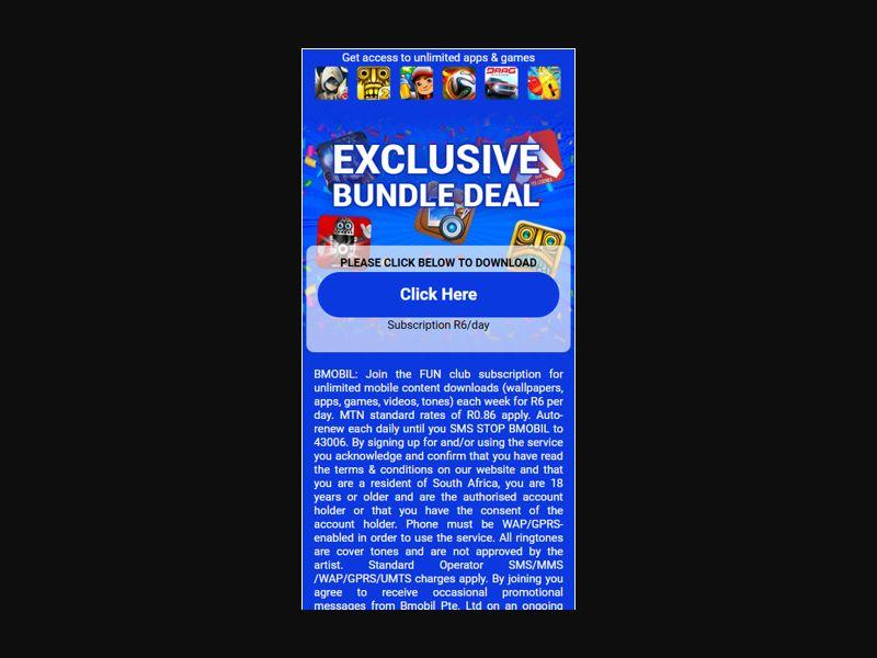 2Click ZA Buddle Apps - All Operators